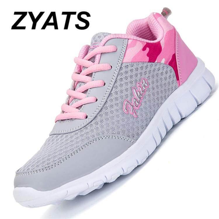 Zyats Jaring-jaring Musim Panas Kasual Modis Wanita Sepatu Lari Dapat Benafas Ultra Ringan Sepatu