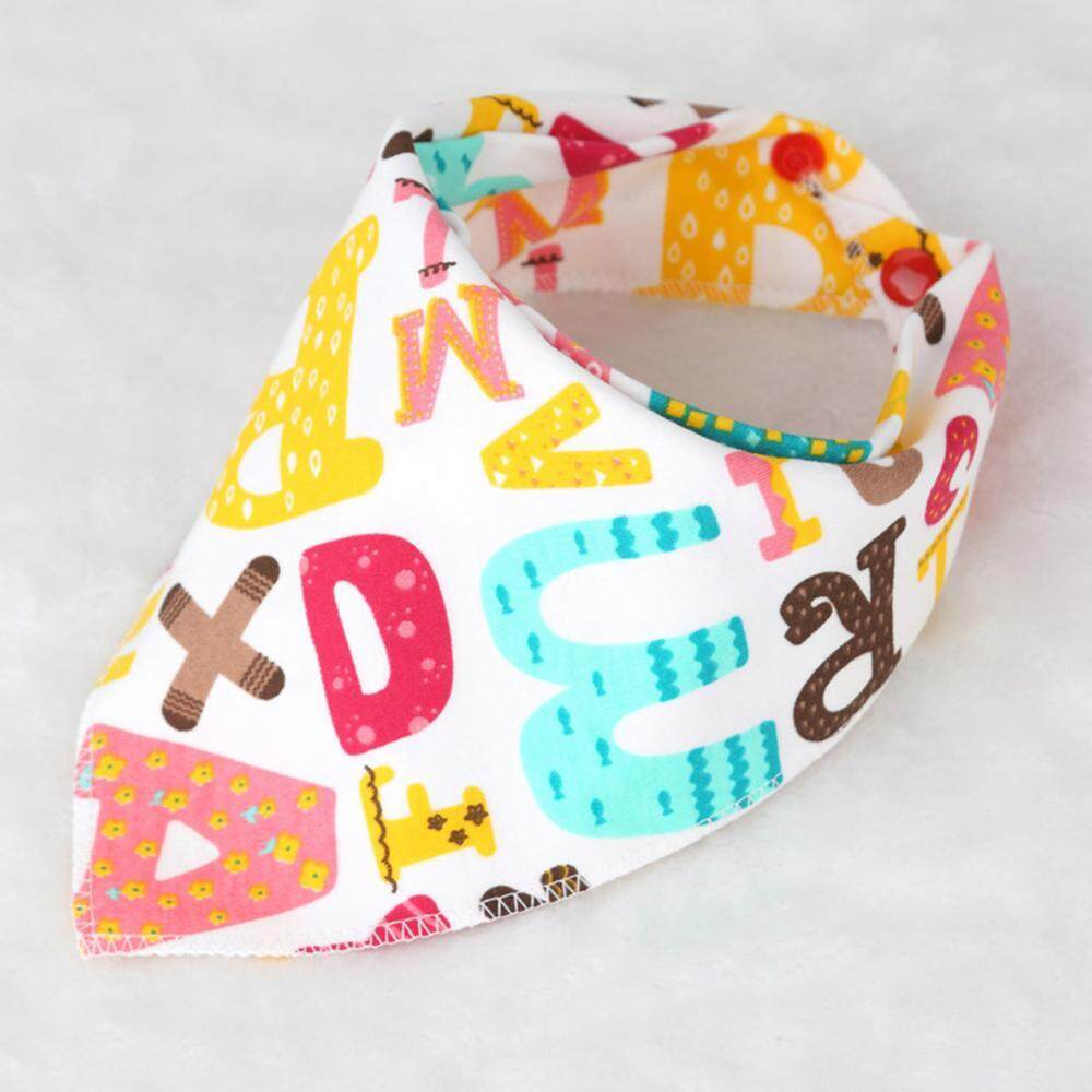 Soft Cotton Baby Saliva Towel Triangle Scarf Dribble Bibs Burp Cloth(Letters) - intl