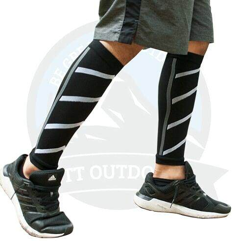 [CLEARANCE SALE] (1 PAIR) CALF COMPRESSION SLEEVE - BLACK