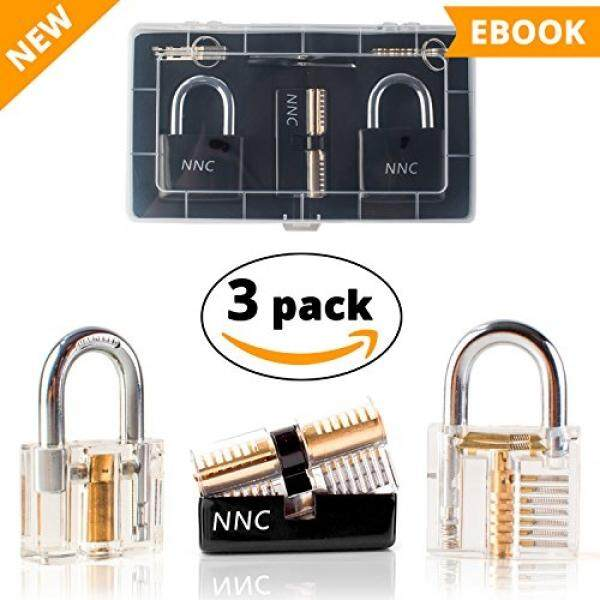 Learning Lock Combination Play Set Kit Picktools15PCS Conbination Set Lock- Gifts & Presents for men - Men Dad Grandfather Hombre Gifts For Boyls Play Set Kit Practice Transparent - intl