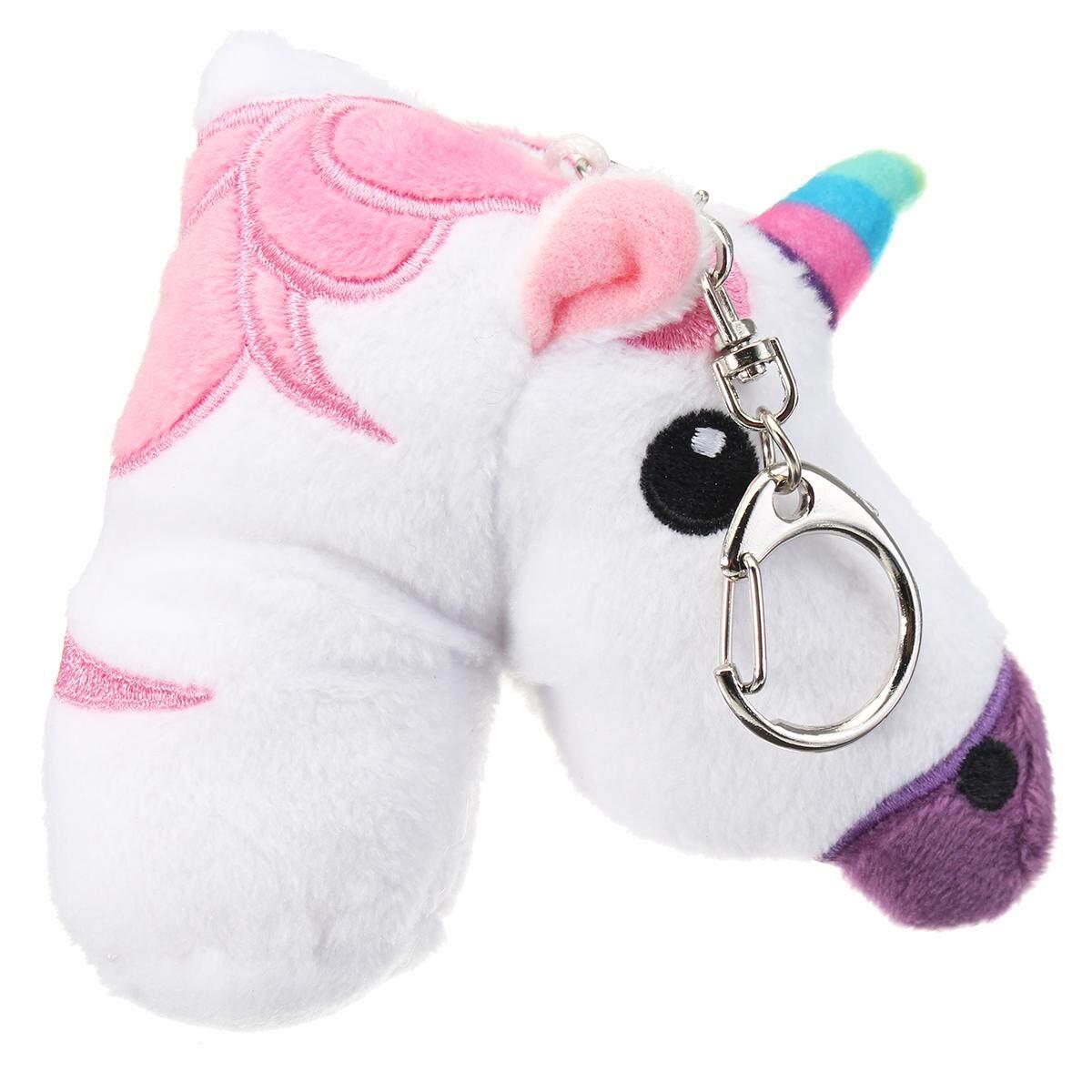 Rainbow Unicorn Horse Plush Toy Key Ring Key Chain Buckle Bag Pendant Ornaments