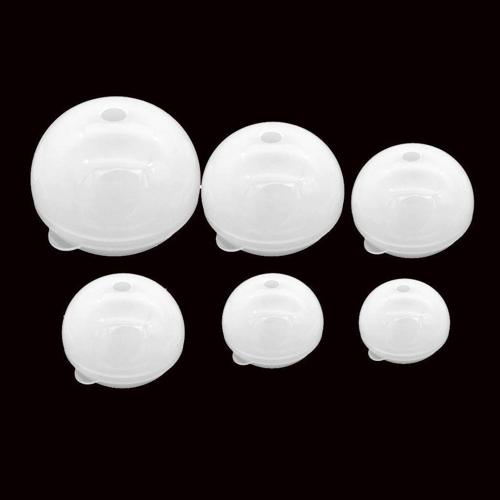 Bolehdeals 6 Pieces 30/40/50/60/70/80mm Sphere Ball Silicone Mould Mold For Epoxy Resin Casting Diy Ornament Craft Tool By Bolehdeals.