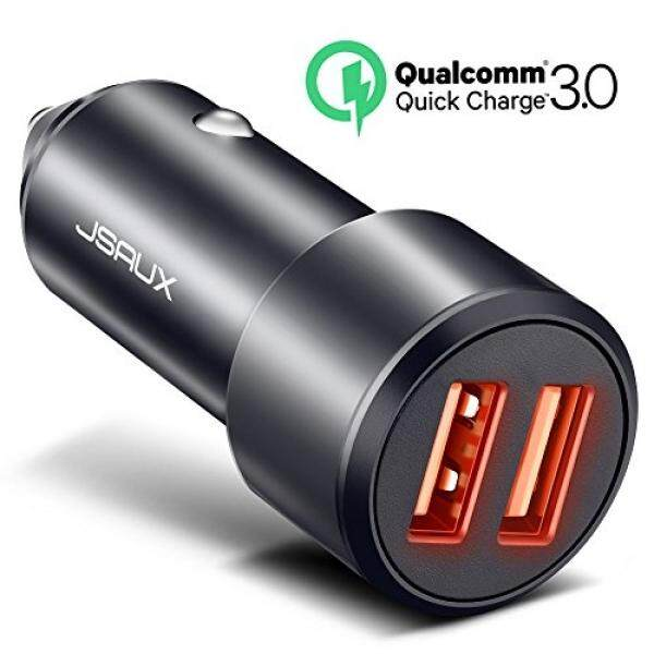 Smartphone Cases Car Chargers Car Charger, JSAUX Quick Charge 3.0 3A/36W Dual USB Car Charger Adapter Aluminum for Samsung Galaxy S9 S8 Plus Note 8 S7 Edge, iPhone X 8 7 6S 6 Plus, iPad Air 2 Mini, LG V30 G5 G6 V20, Mote Z & More - intl
