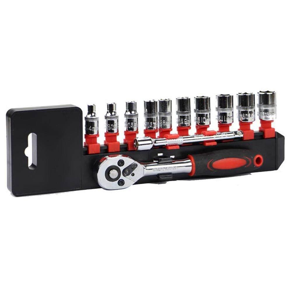 Hình ảnh 12pcs Universal Wrench Socket Set Hardware Vanadium Repairing Kit Tools - intl