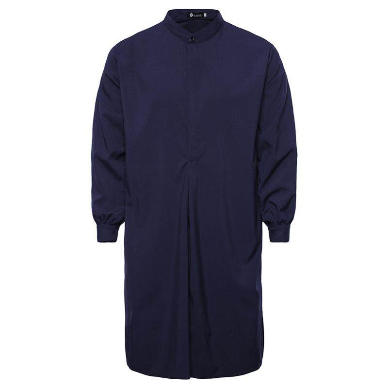 ฤดูใบไม้ผลิและฤดูร้อนสไตล์อาหรับยาวเสื้อเชิ้ตผู้ชายชุดคลุมของมุสลิม - Intl.