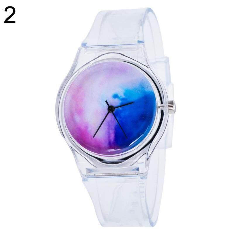 BODHI Fashion Transparent Kids Women Colorful Dial Jelly Quartz Analog Wrist Watch (2#) Malaysia