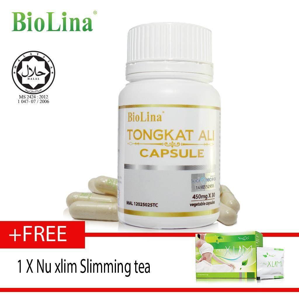 Biolina Tongkat Ali Capsule 30 capsules x450mg free Nu Xlim slim tea ????30?