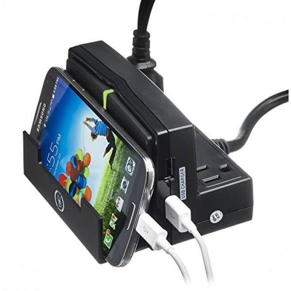 Charging Stations Yubi Power Desktop Power Charging Station - Mobile Device Holder - With 2 USB Ports and 3 AC Surge Protected Outlets - intl