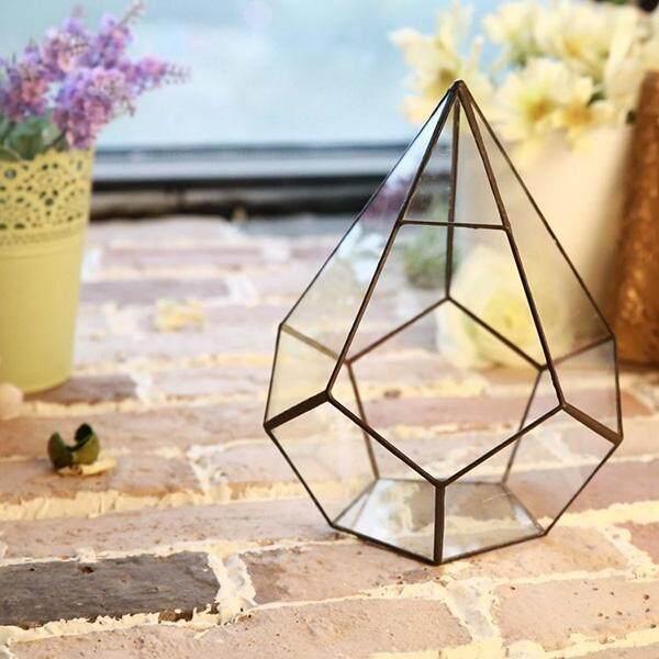 Irregular Glass Geometric Terrarium Box Tabletop Succulent Plant Planter HK - intl