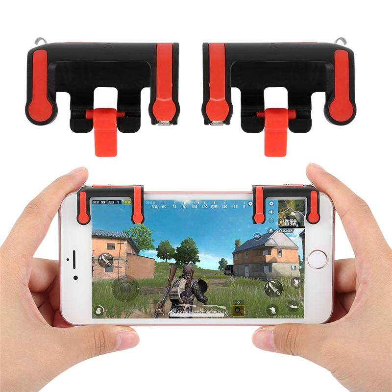 MX Pair of Mobile Game Controller Smartphone Clamp Shoot Fire Button Aim Key for PUBG
