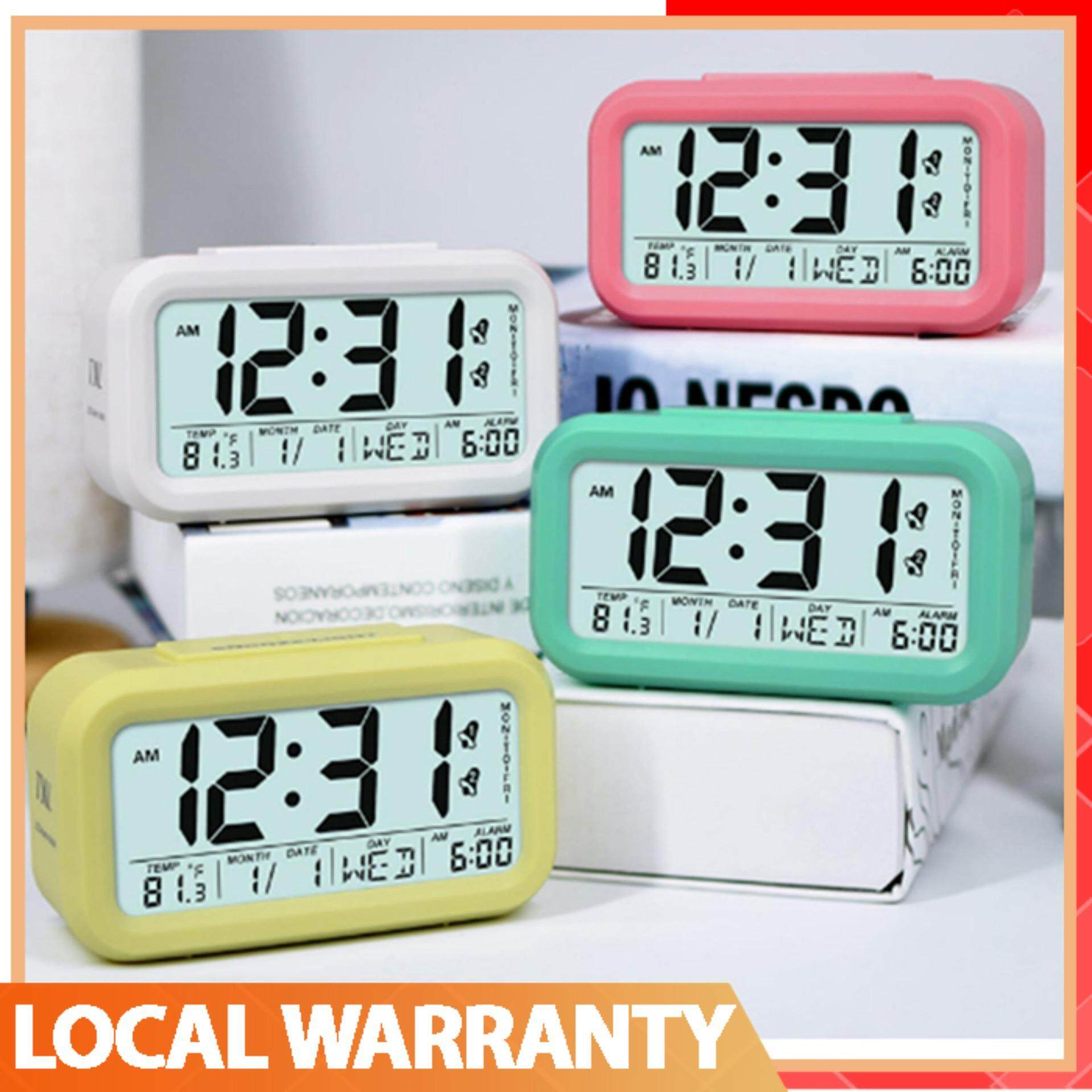 Features Home Large Backlight Digital Calendar Thermometer Multifunction And Hygrometer With Clock Alarm Led Snooze Candy Color Time