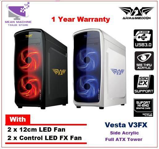 Armaggeddon Venus V3FX Acrylic 4 LED Fan ATX Gaming Chassis Malaysia