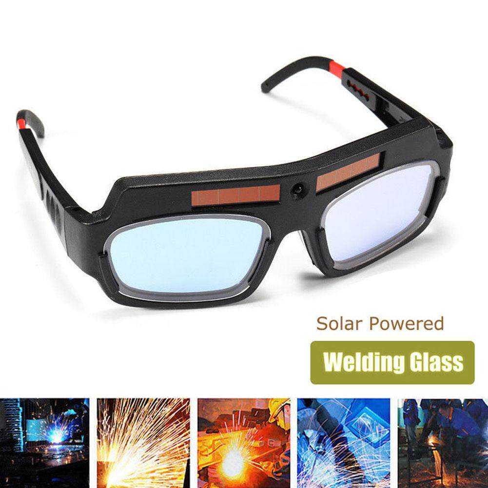 Solar Powered Safety Goggles Auto Darkening Welding Eyewear Eyes Protection Welder Glasses Mask Helmet Arc - intl