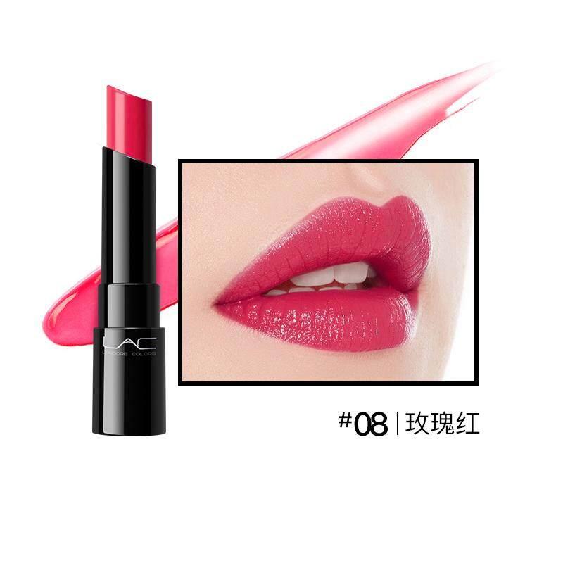 【08 Rose Red】lac Tetes Air Pelembab Putih Bermerek Lipstik Luntur Pelembab Glasir Bibir Siswa Jelly Bibi Biji Labu Lipstik Warna Labu-Intl