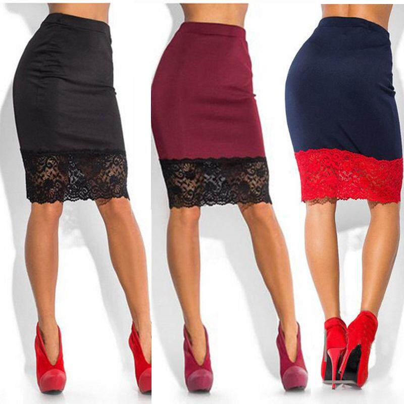 Hot Women Sexy Lace Stretch Office High Waist Pencil Skirts Bodycon Party Skirt By I Fashion Bag.