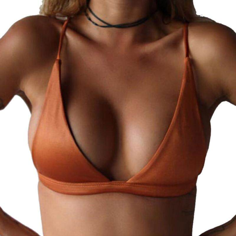 DOTEC High Quality Hot Sale Sexy Solid Color Bikini Swimsuit Top