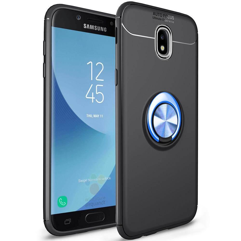 Untuk Samsung Galaxy J5 PRO 2017 Case, Mewah Colorful Logam Magnetik Cincin Silikon Lunak Cover Sarung Telepon Genggam