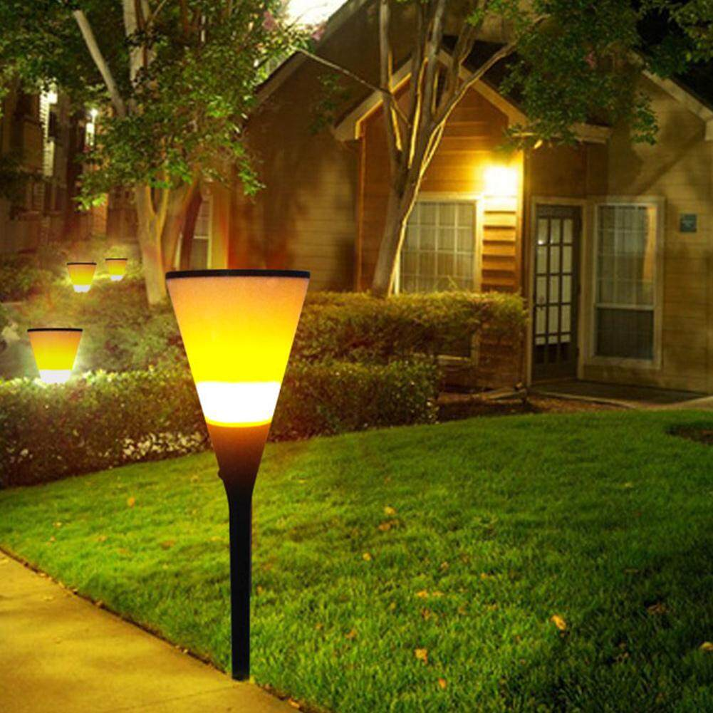 Hình ảnh Viugreum Solar Lights Waterproof Flickering Flames Torches Garden Lamp - intl