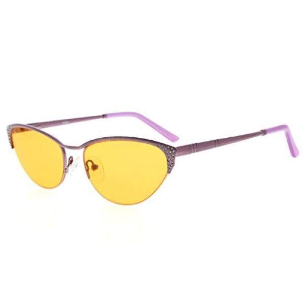 Eyekepper Game Komputer Kacamata Baca dengan Optik Setengah Bingkai Pelek Anti Cahaya Biru Anti Lelah Anti Radiasi Anti Silau UV400 Mengurangi Kelelahan Mata-96.9% biru Cahaya Memblokir Lensa Oranye/dari Amerika Serikat