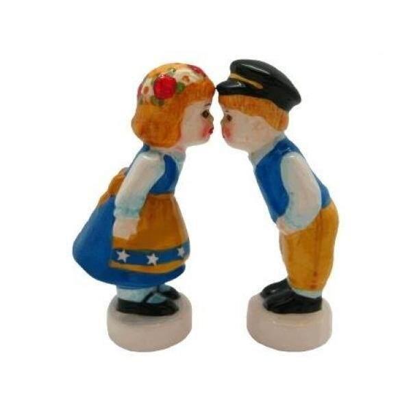 Tupperware Salt & Pepper Shaker Sets Essence of Europe Gifts Swedish Kissing Couple Salt and Pepper Shakers - intl