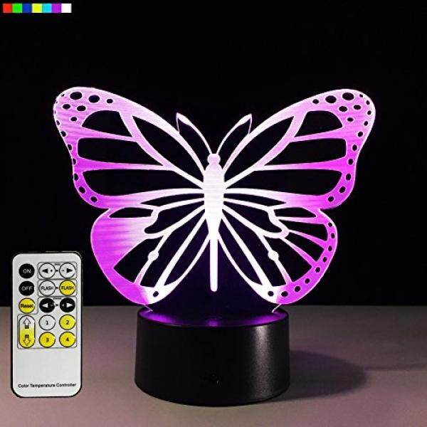 Easuntec Baby Night Light Butterfly 7 Colors Change with Remote Birthday Gifts for Her Girl Gifts for A Girl or Animal Lover or Baby Room Decor by (Butterfly) / From USA - intl