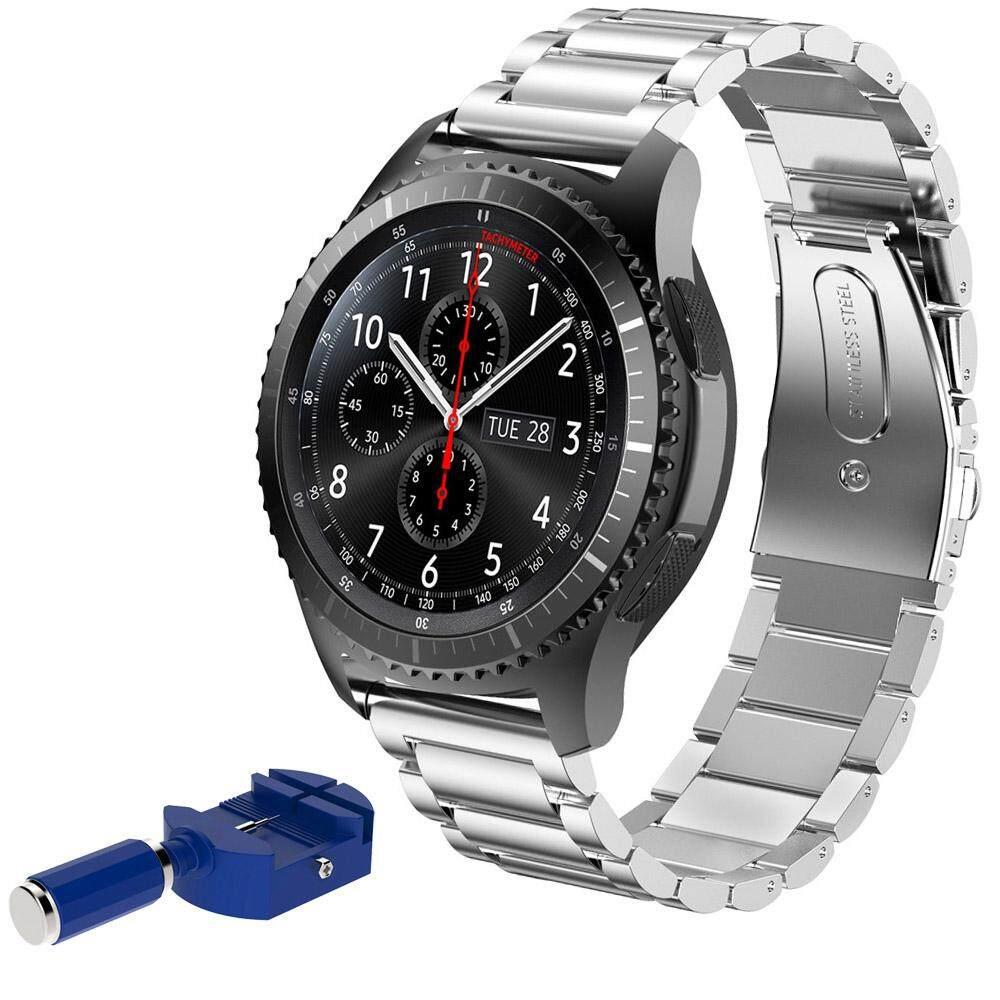 Gracekarin Online Tali Baja Tahan Karat Gelang Jam dengan Alat untuk Samsung Gear S3 Klasik/Frontier