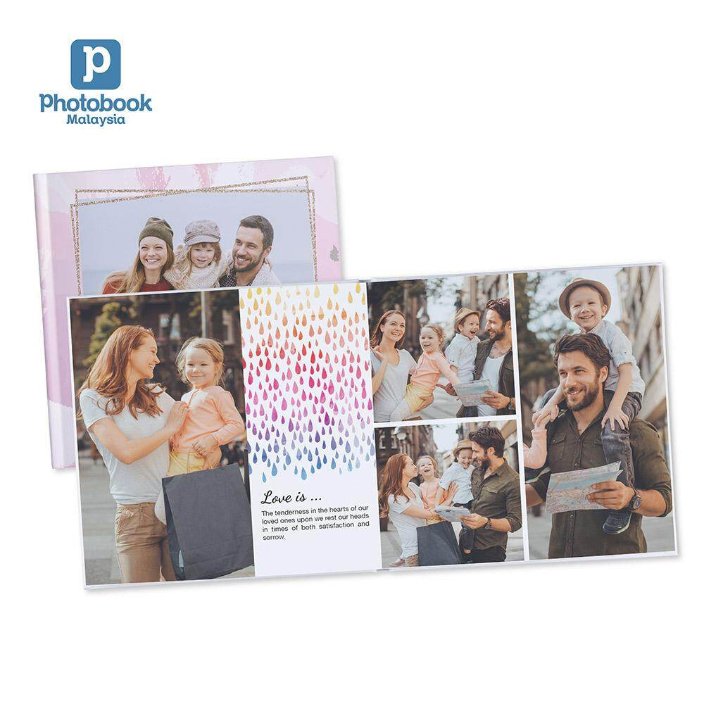 "Photobook Malaysia 8"" x 8"" Small Square Imagewrap Lay Flat Photo Book, 22+2 Pages"