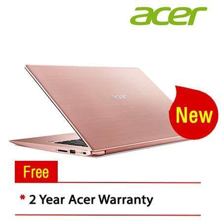 """Acer Swift 3 SF314-54-59T5 14"""" FHD IPS Laptop Sakura Pink ( I5-8250U, 4GB, 128GB SSD + 1TB HDD, Intel, W10 )"""