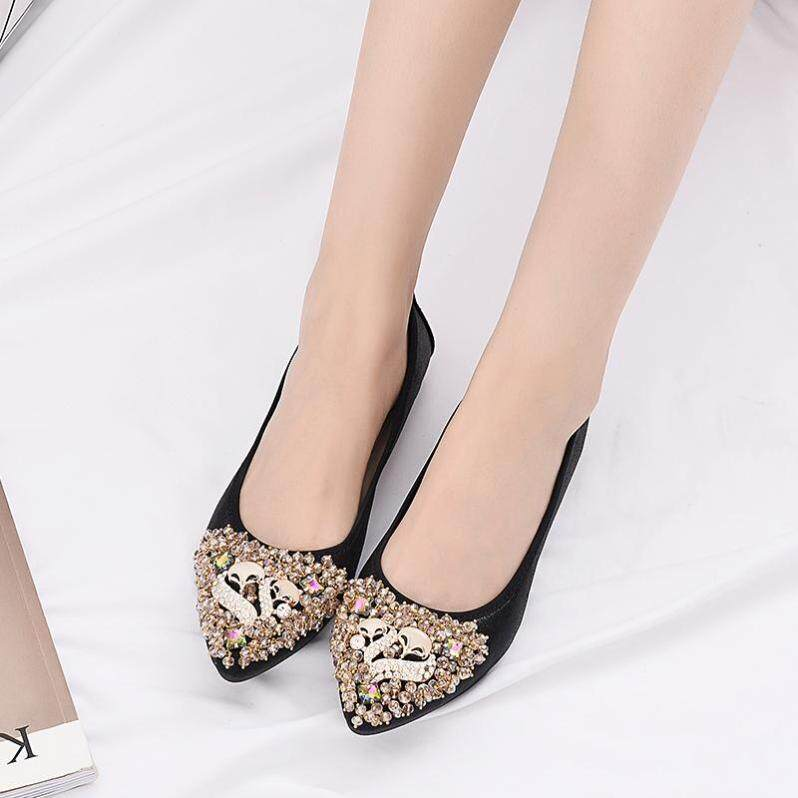 Giày Nữ 2021 Mẫu Mùa Xuân Nổi Danh Trên Mạng Mẫu Mới Giày Tods Đế Bằng Cổ Tích Nhẹ Nhàng Của Đầu Nhọn Nhỏ Kích Thước Giày Nữ 313233 giá rẻ