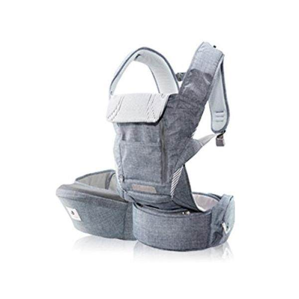 Pognae No5 Plus Organic Cotton Hipseat All in One Carrier (Denim Gray)
