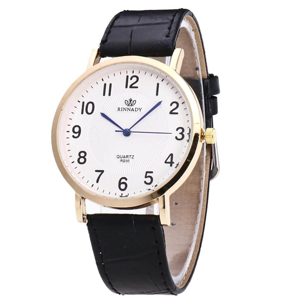 Free Shipping Women Men Fashion Leather Band Analog Quartz Round Wrist Watch Watches