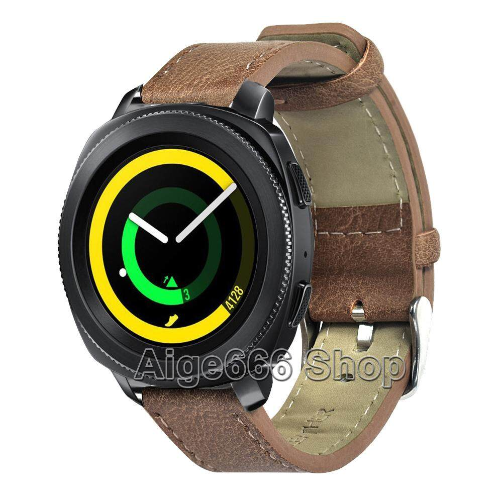 Vintage Leather Strap Band for Samsung Gear Sport Smart Watch