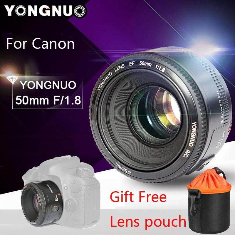 YongNuo YN50mm F1.8 Standar Lensa Utama Aperture Besar Auto Lensa Fokus untuk Canon EF Gunung Rebel DSLR Kamera