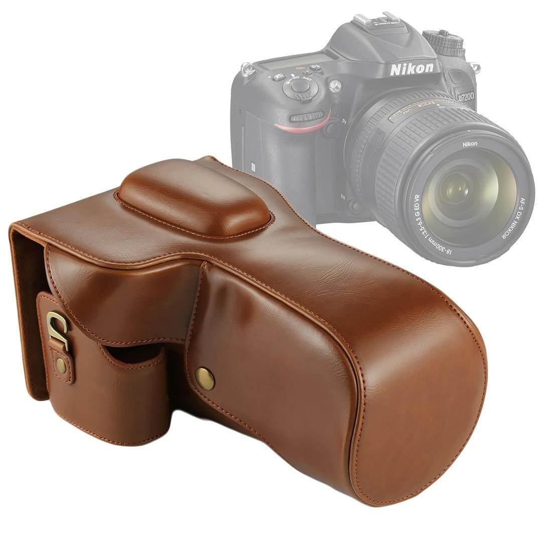 Full Body Camera PU Leather Case Bag for Nikon D7200 / D7100 / D7000 (18-200 / 18-140mm Lens) (Brown) - intl