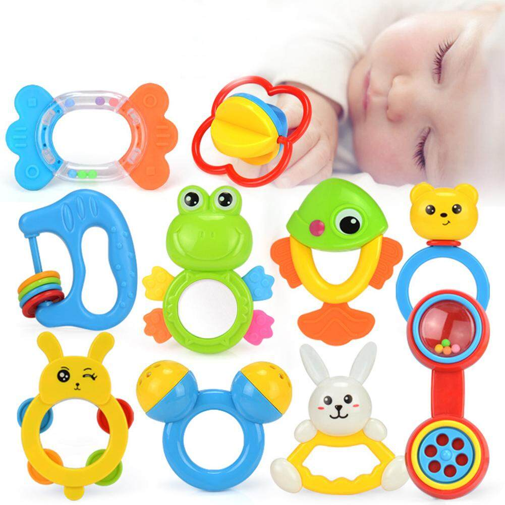 Sunny Lets Make 1pc Rattle Animal Montessori Toys Have Sound Baby Product Educational Toys Newborn Shower Gift Attract Attention Baby Rattles & Mobiles