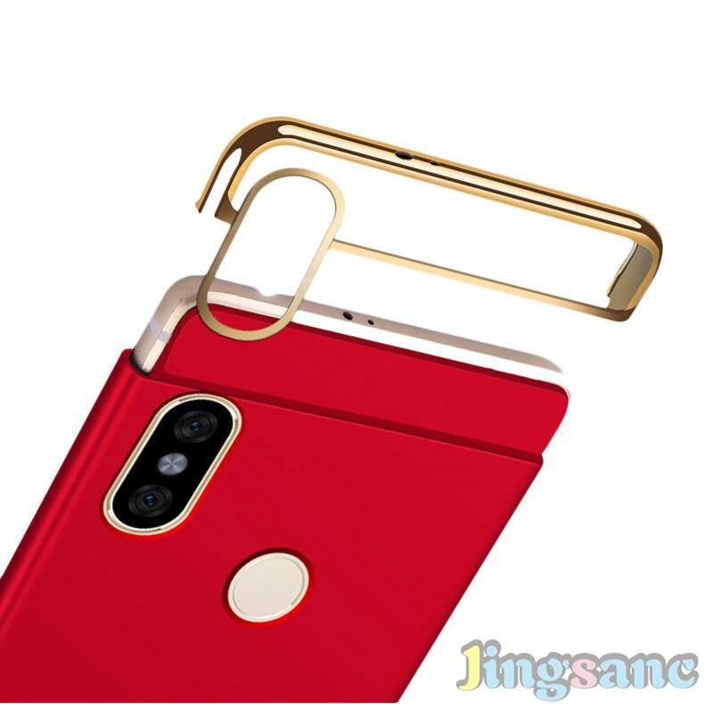 ... Untuk Xiaomi Redmi S2 [Casing Ponsel + Kaca Antigores] Luxury 3 In1 Desain Matte