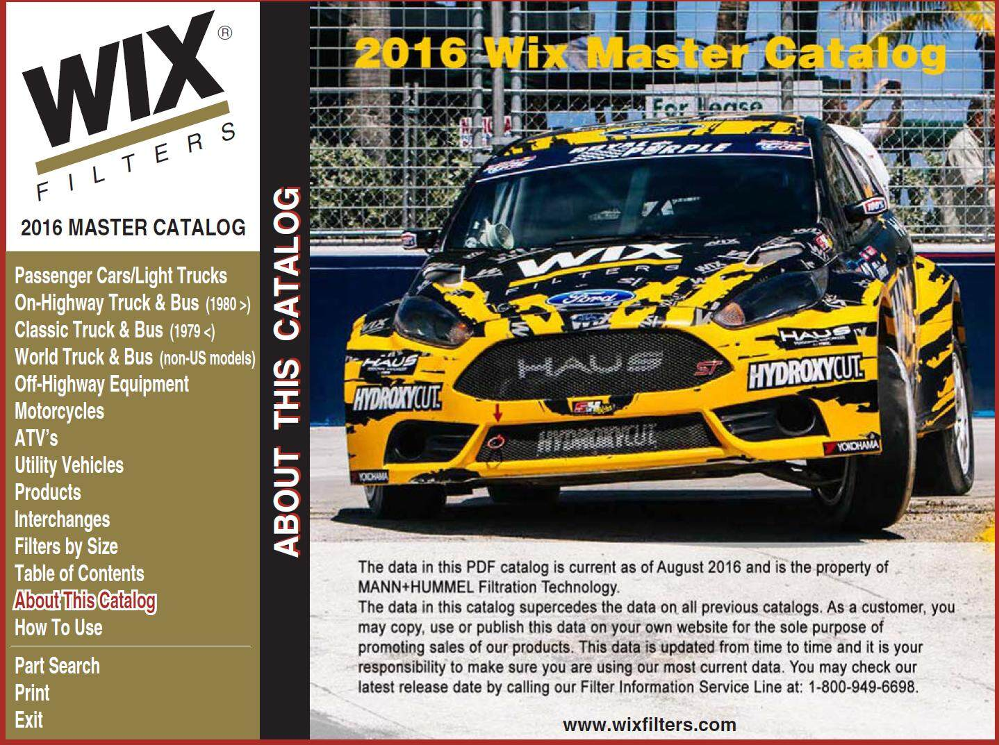 Wix Filters Master Catalog End 6 14 2019 1115 Am Racing Fuel Filter Since 1939 Has Been An Innovator In Filtration Products Designs Manufactures And Distributes For Automotive Diesel