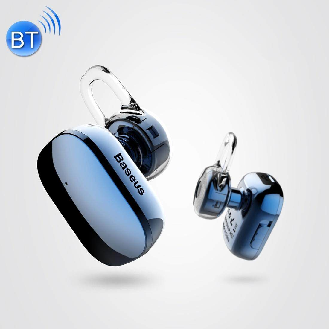 Baseus Encok A02 One-sided Touch Control Wireless Bluetooth In-Ear Plating Earphone, Support Answer / Hang Up Calls, For iPhone, Samsung, Huawei, Xiaomi, HTC, Sony and Other Smartphones(Blue)