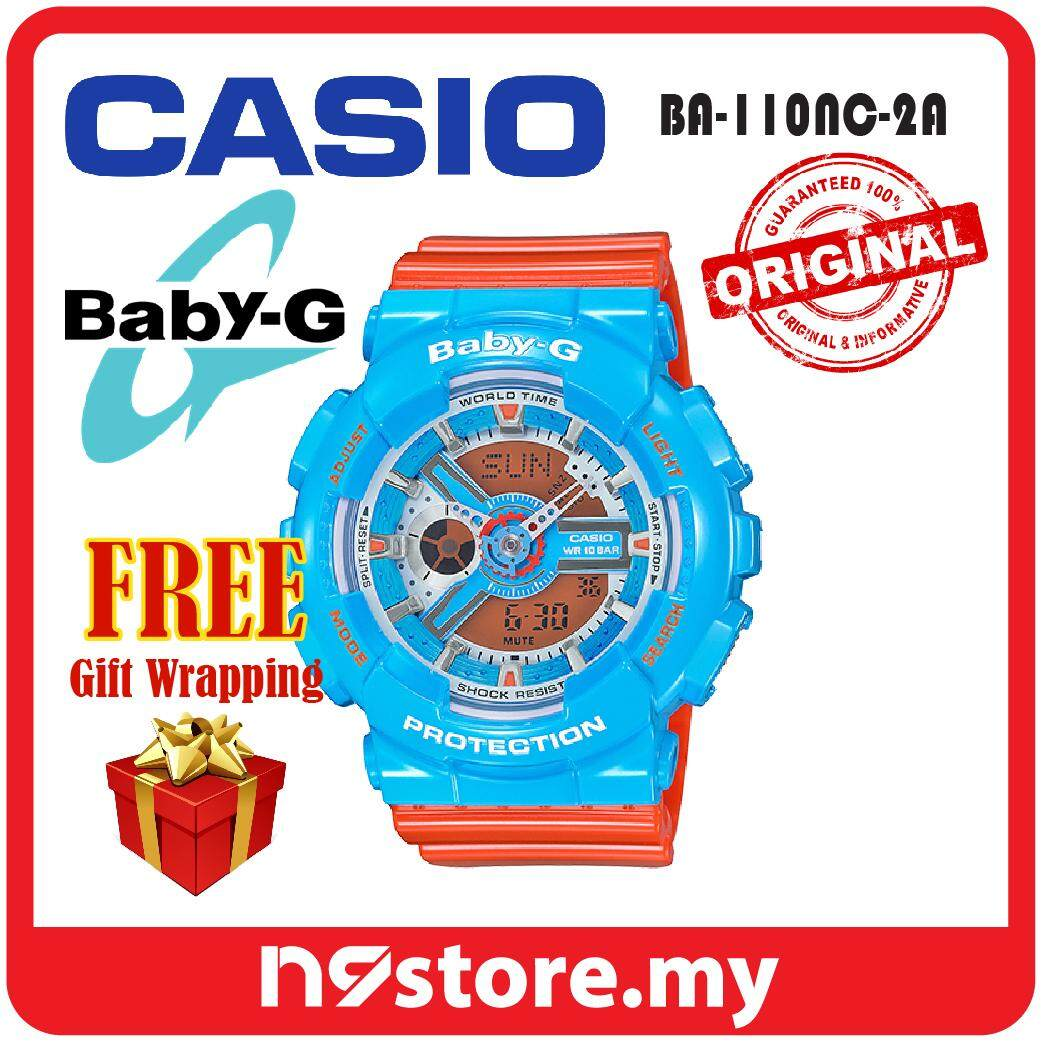Casio Baby-G BA-110NC-2A Analog Digital Ladies Crazy Color Sports Watch