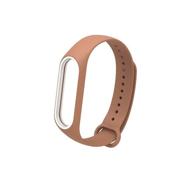 Fashion Silikon Wrist Strap untuk Mi Band 3 Xiaomi 3 Smart Gelang (Coffee No.