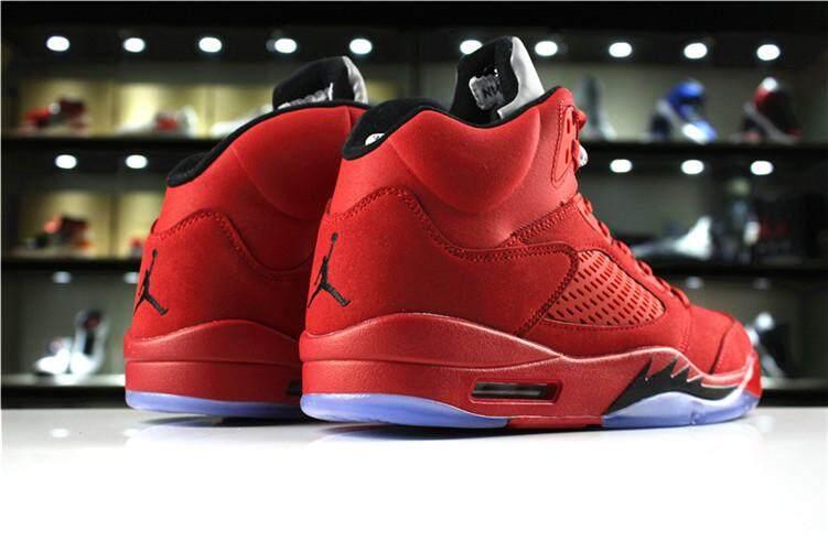 "1379c6716046 Nike Official Michael Jordan 5 Green Red Men s Basketaball Shoe MJ AJ  ""Camo"" High"