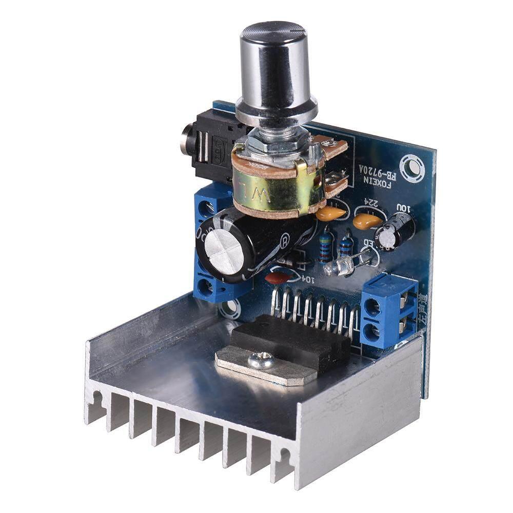 Stereo 2 0 Audio Amplifier Module 15W + 15W Dual-channel Mini Amp Board  Amplify DIY Circuit Board with Heatsink