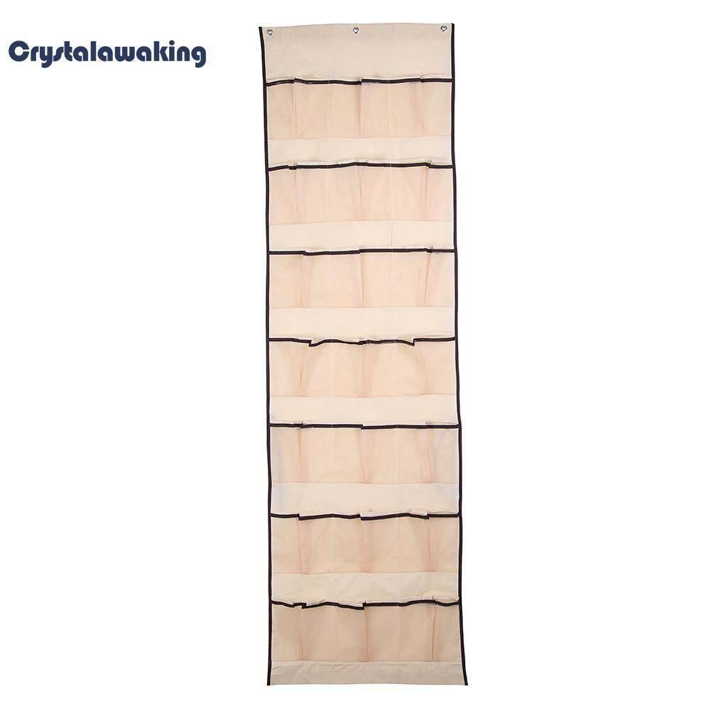 21x2 Pockets Over Door Hanging Bag Organizer Shoe Box Cosmetic Rack Hanger