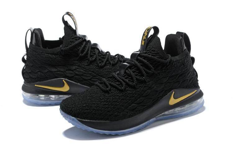 Nike Resmi LeBron James LeBron XV LeBron 15 EP Low Top Pria Basketaball  Sepatu LBJ Hitam 47f061a183