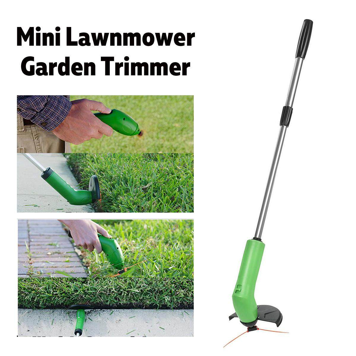 Garden Zip Trim Portable Cordless Trimmer Lawnmower Grass Edger Works With Standard Zip Ties