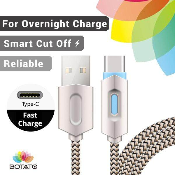 New [[Type-C Charging Cable]] Fast Charge Data Cable Speed Charge Nylon Fibre Cable [[Botato Electronic]]