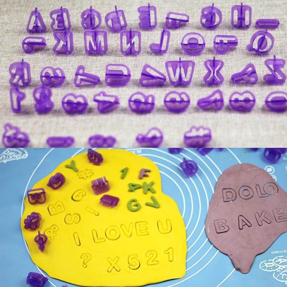 ... 40 PCS Abjad Huruf Nomor Kue Biskuit Fondant Cetakan Kue Cookie Pemotong-Intl - 3 ...