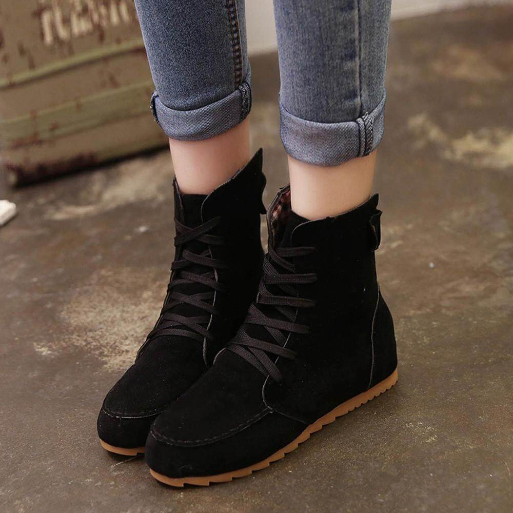 Boots For Women Sale Womens Online Brands Prices D Island Shoes Casual Black Flat Ankle Snow Motorcycle Female Suede Leather Lace Up Boot Bk 36
