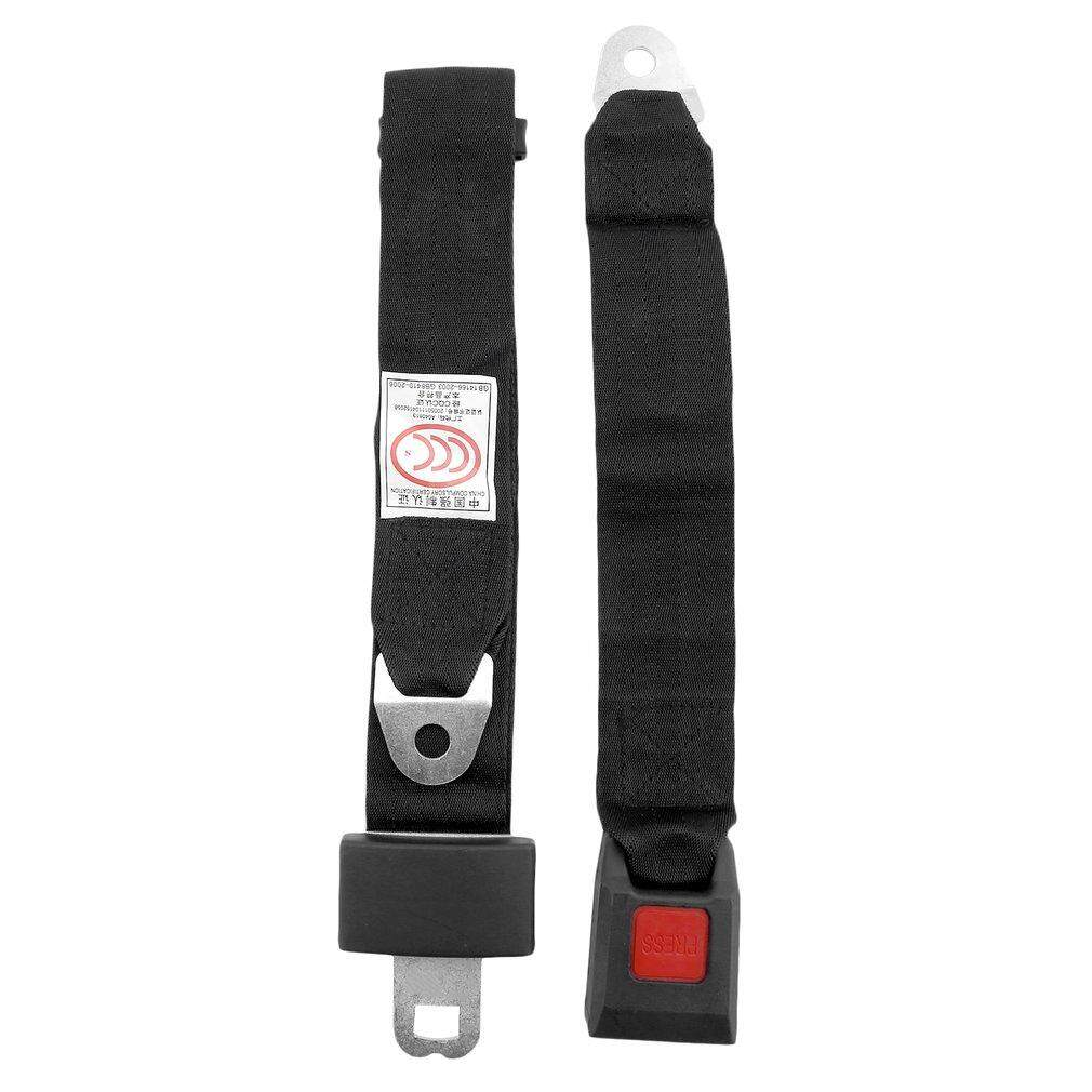 Universal hitam Car Seat Belt Lap Belt dua titik Adjustable Safe
