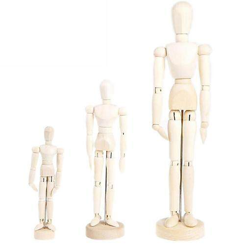 PER 4.5/5.5/8 INCH Wooden Man Model Artist Movable Limbs Doll Male Wooden